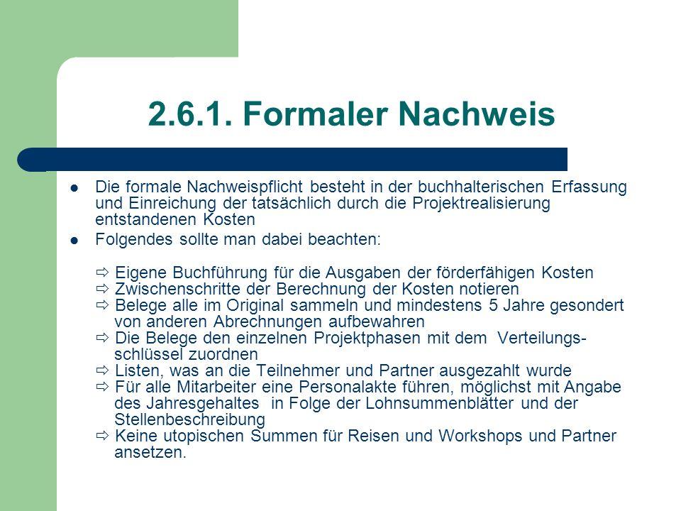 2.6.1. Formaler Nachweis