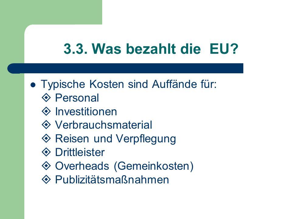 3.3. Was bezahlt die EU