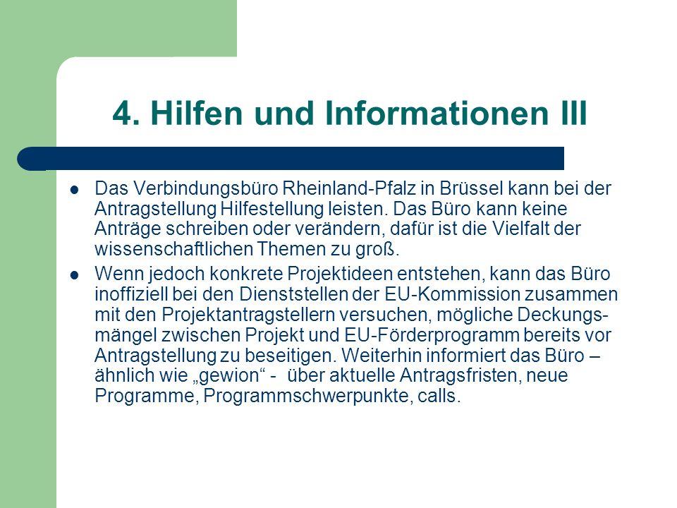 4. Hilfen und Informationen III