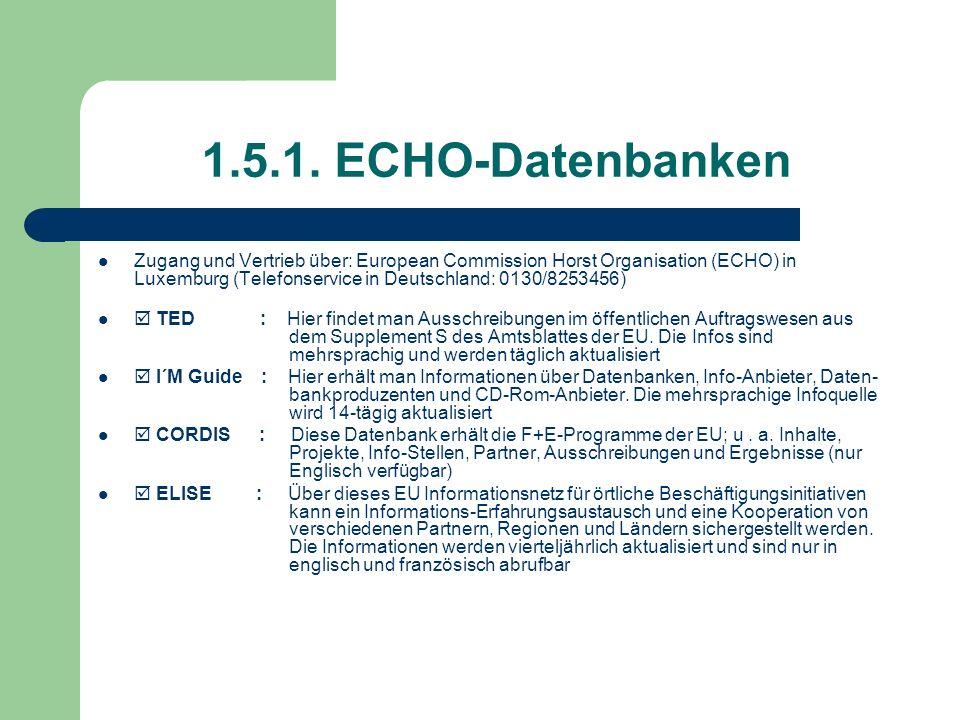 1.5.1. ECHO-Datenbanken