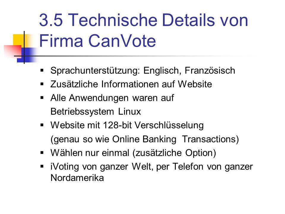 3.5 Technische Details von Firma CanVote