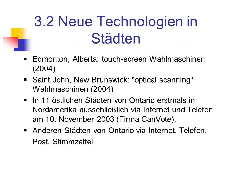 3.2 Neue Technologien in Städten