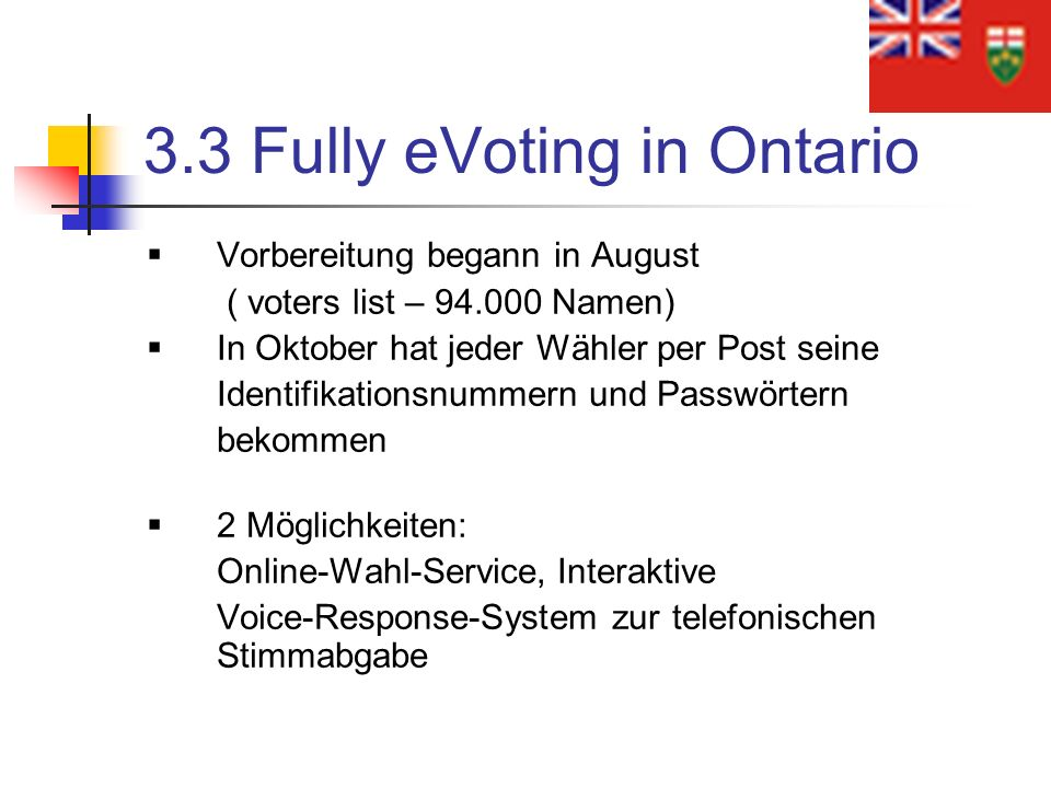 3.3 Fully eVoting in Ontario