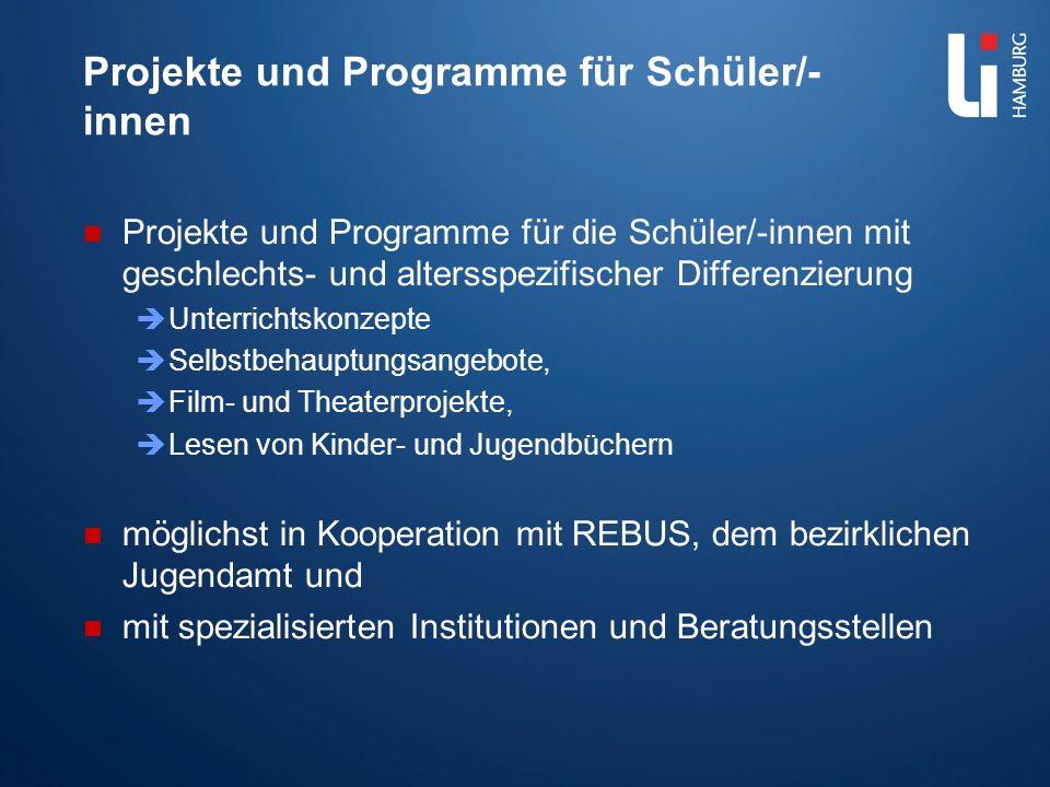 Projekte und Programme für Schüler/-innen