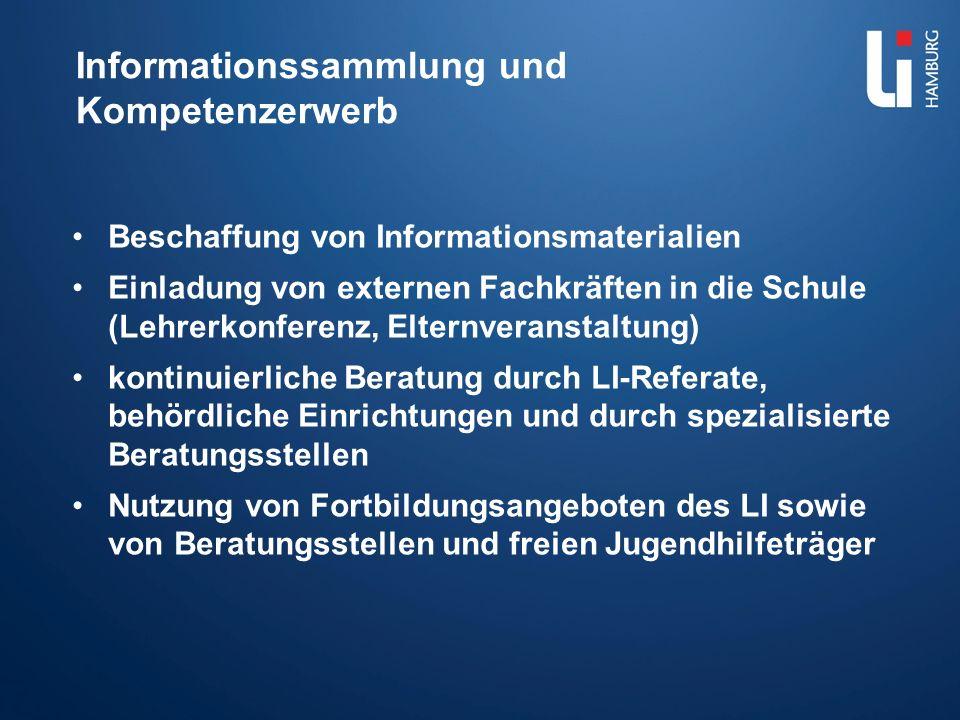 Informationssammlung und Kompetenzerwerb