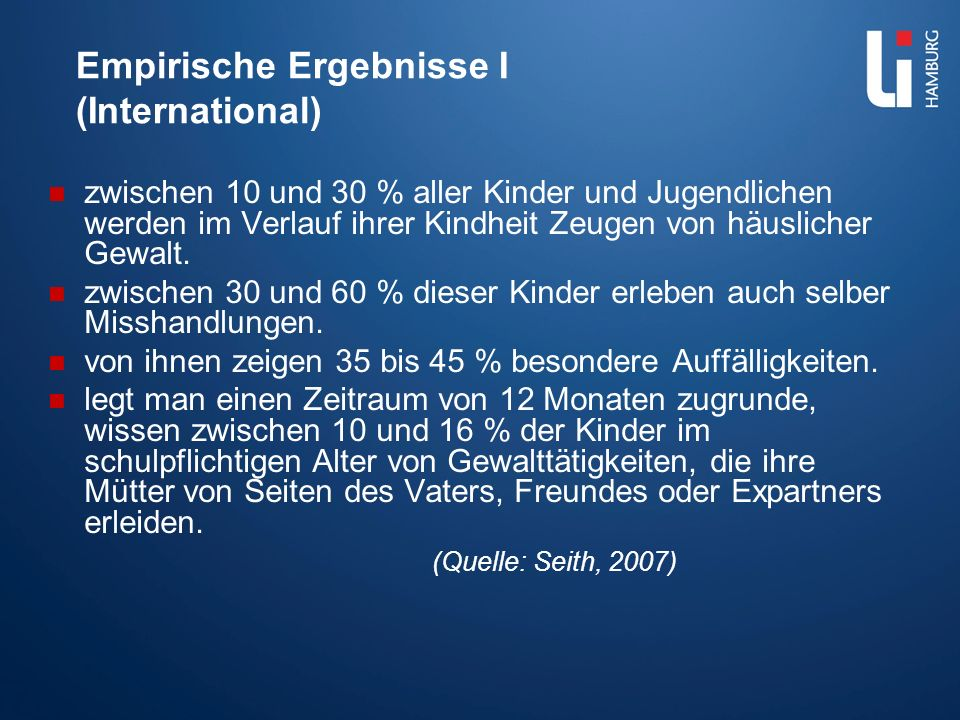Empirische Ergebnisse I (International)