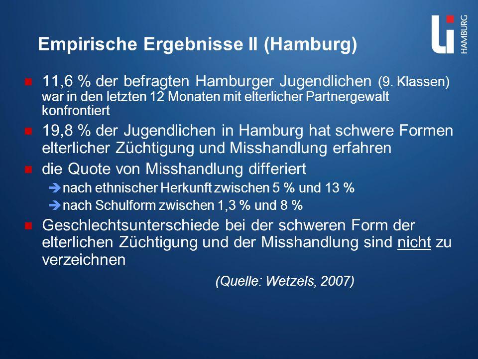 Empirische Ergebnisse II (Hamburg)