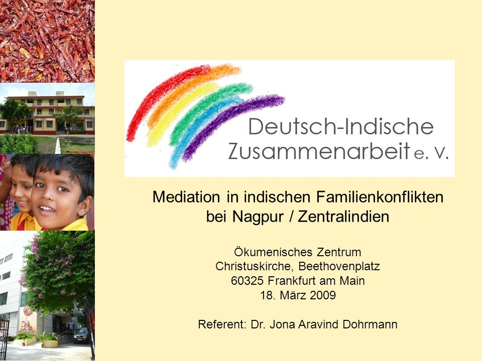 Mediation in indischen Familienkonflikten bei Nagpur / Zentralindien