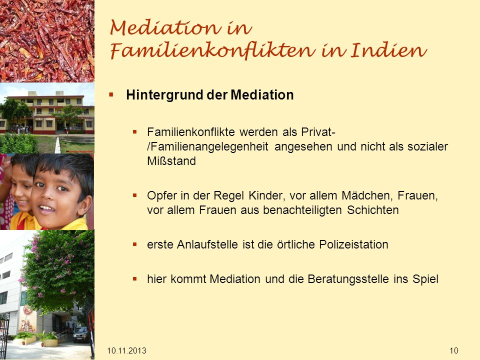 Mediation in Familienkonflikten in Indien