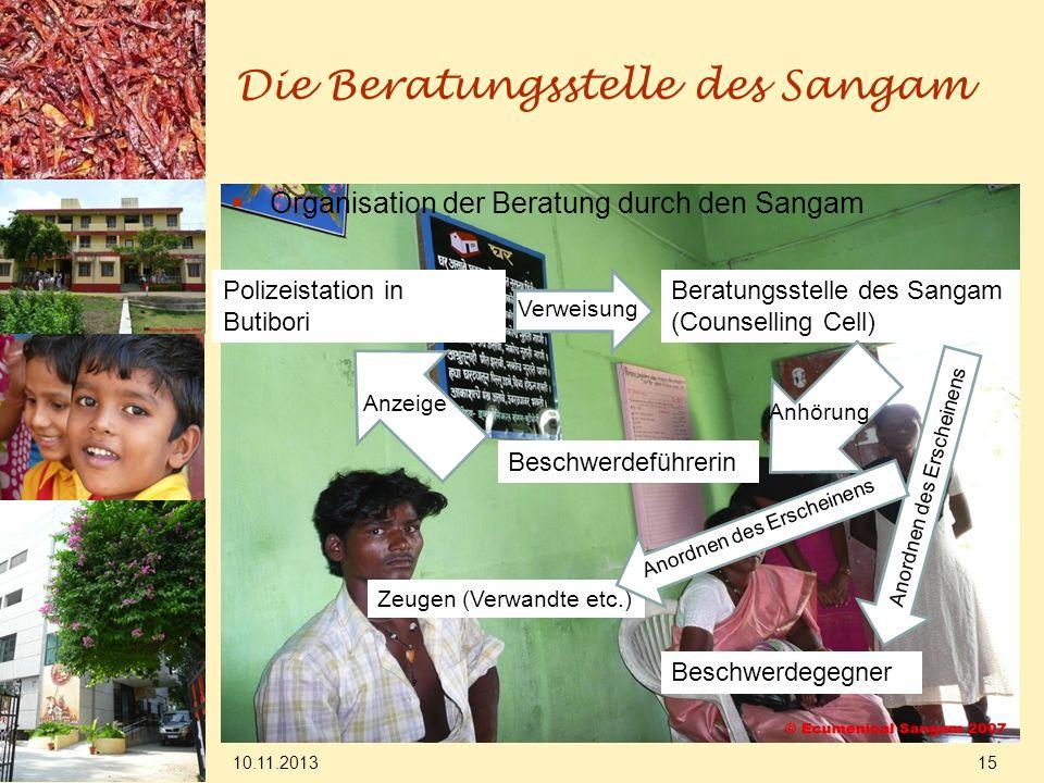 Die Beratungsstelle des Sangam