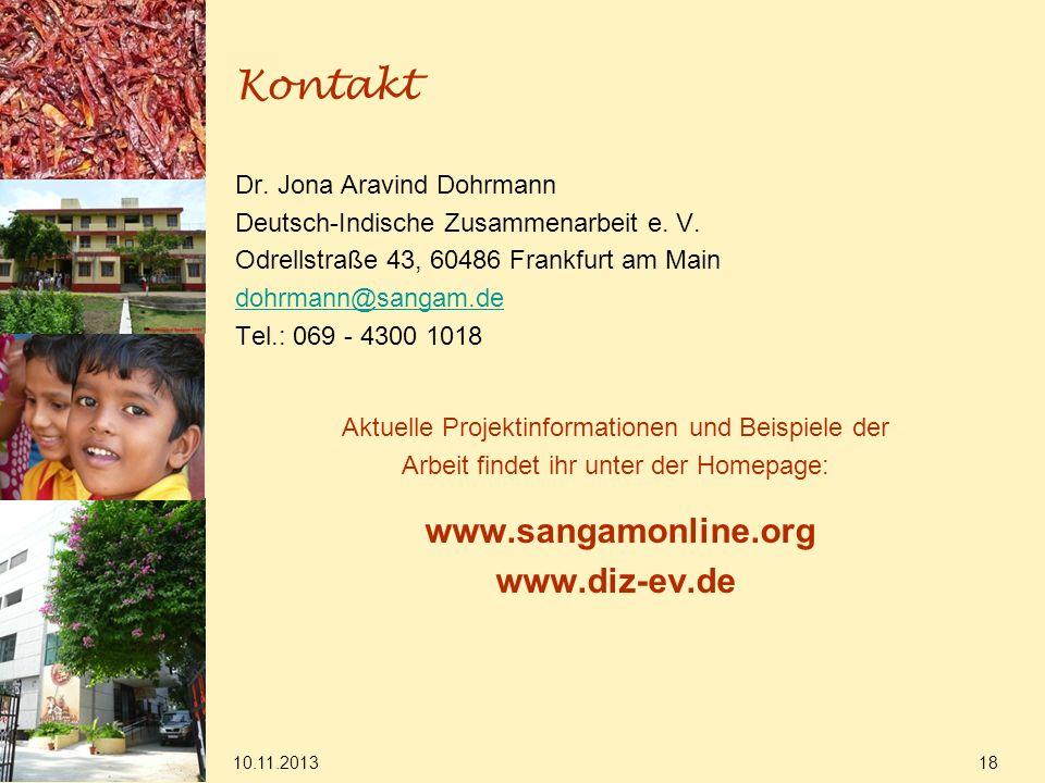 Kontakt www.diz-ev.de Dr. Jona Aravind Dohrmann