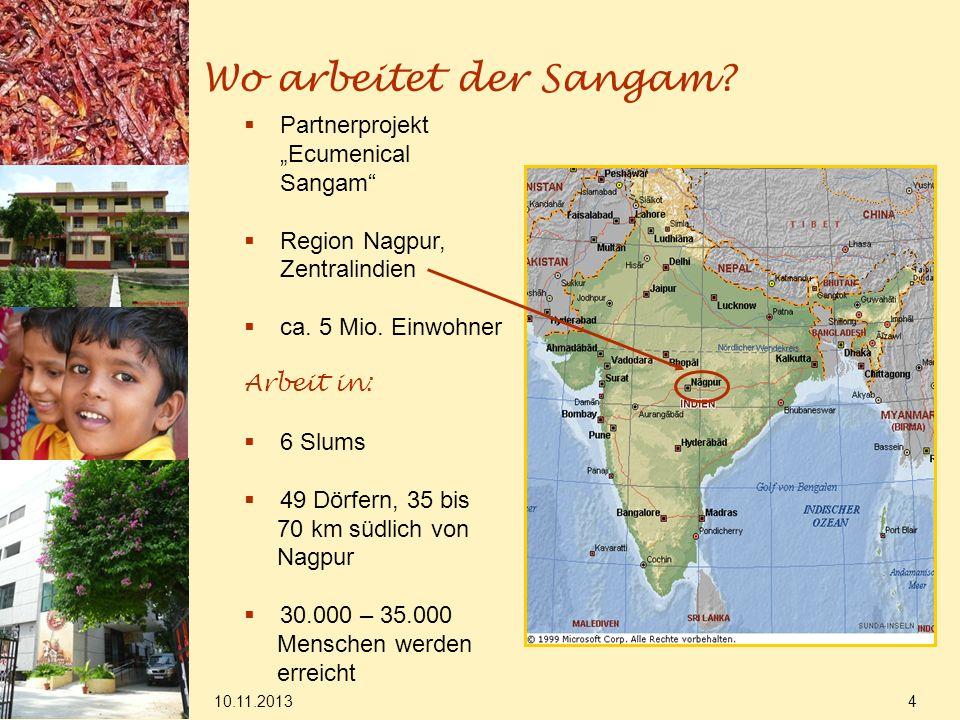 "Wo arbeitet der Sangam Partnerprojekt ""Ecumenical Sangam"