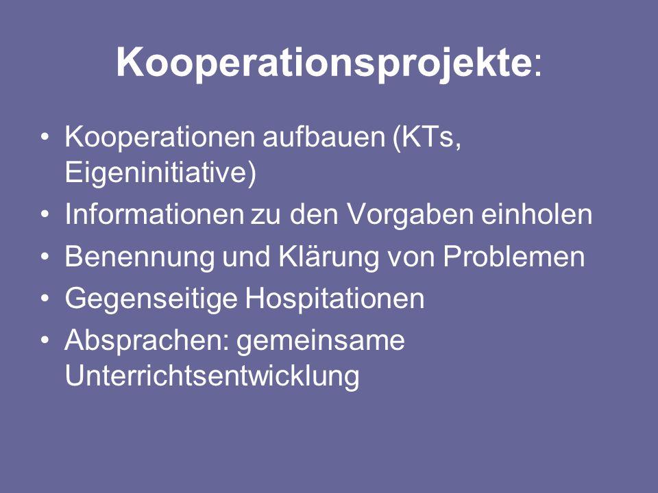 Kooperationsprojekte: