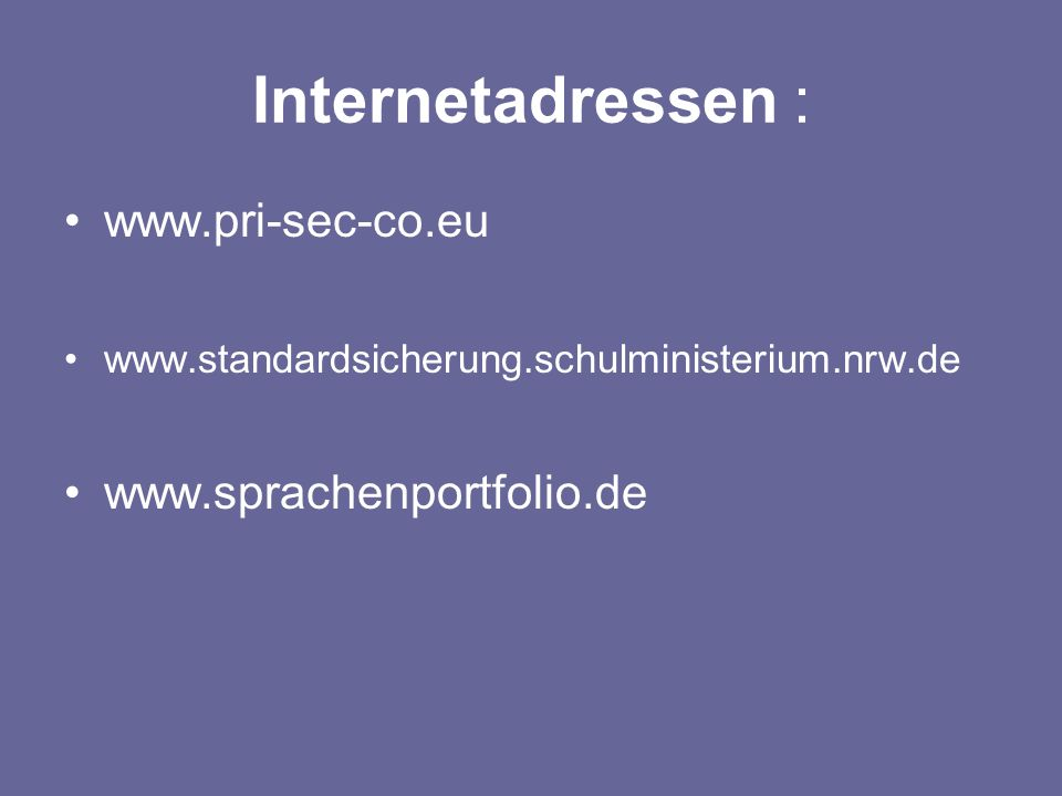 Internetadressen :