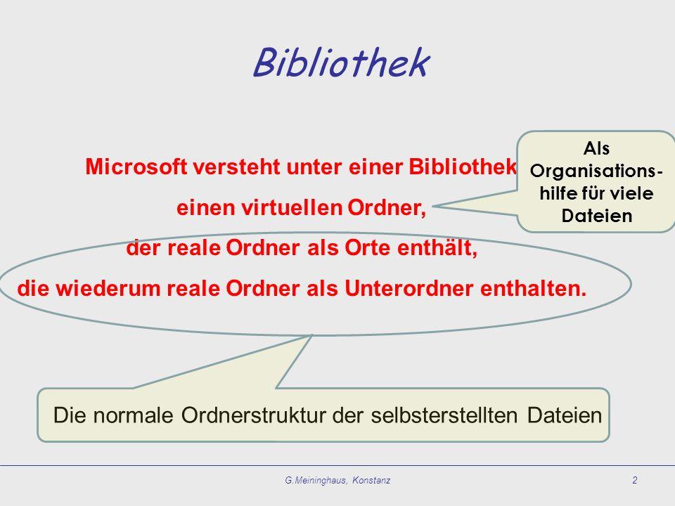 Bibliothek Microsoft versteht unter einer Bibliothek