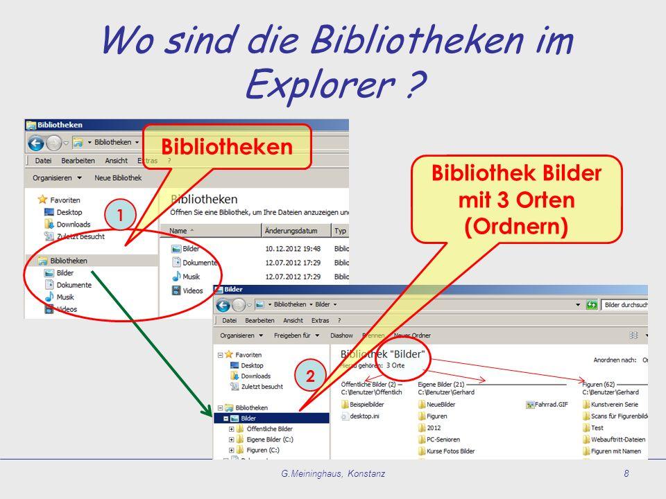 Wo sind die Bibliotheken im Explorer