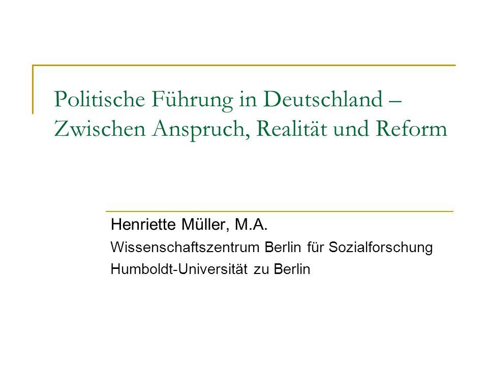 Politische Führung in Deutschland – Zwischen Anspruch, Realität und Reform