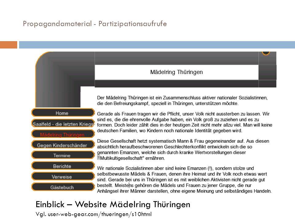 Einblick – Website Mädelring Thüringen