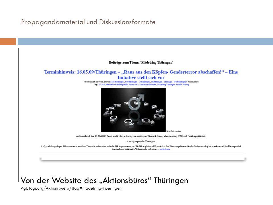 """Von der Website des """"Aktionsbüros Thüringen"""