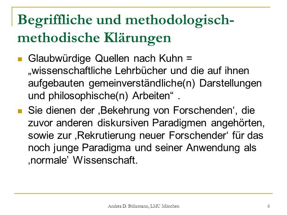 Begriffliche und methodologisch-methodische Klärungen