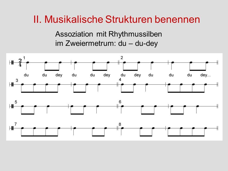 II. Musikalische Strukturen benennen
