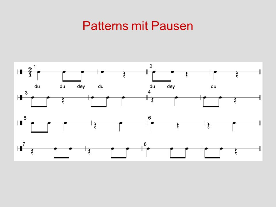 Patterns mit Pausen