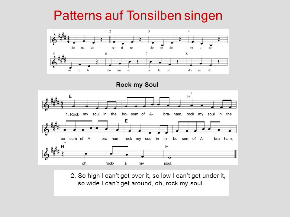 Patterns auf Tonsilben singen
