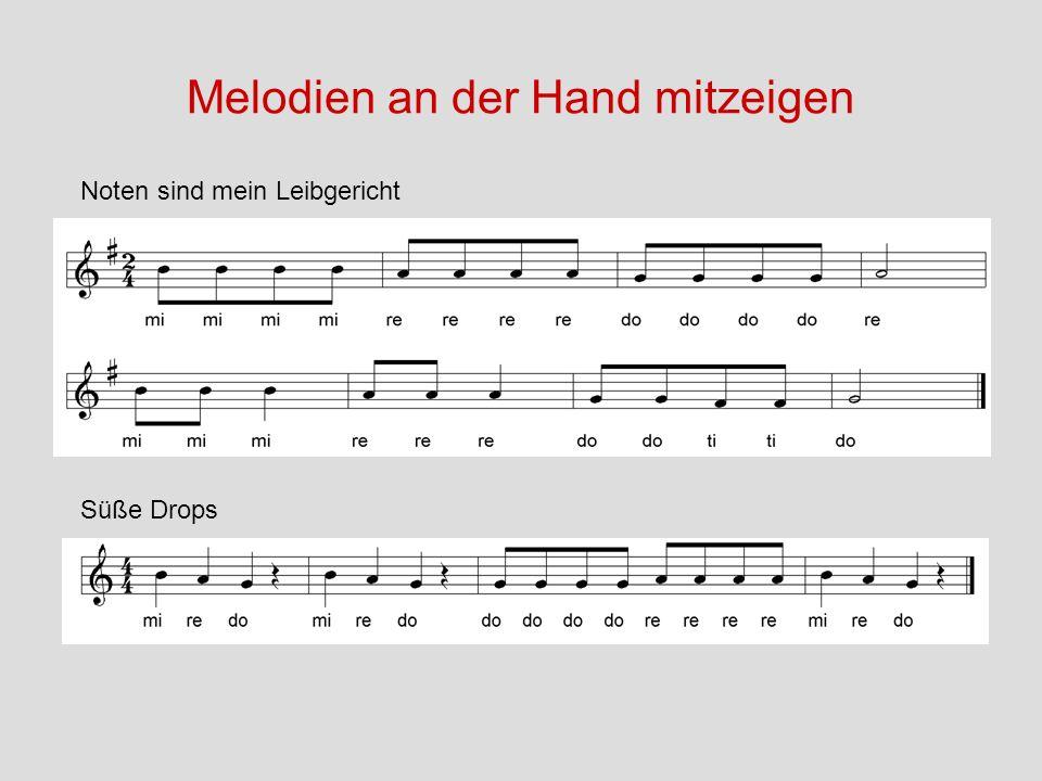 Melodien an der Hand mitzeigen