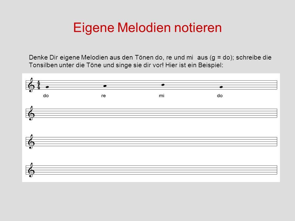 Eigene Melodien notieren