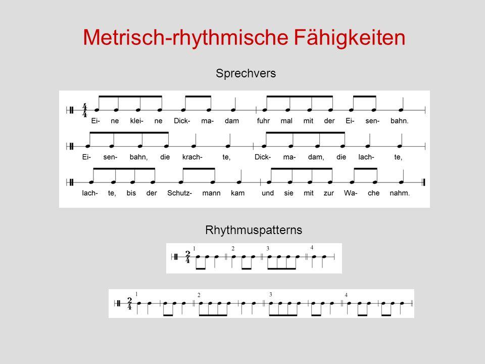 Metrisch-rhythmische Fähigkeiten
