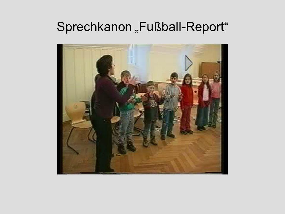 """Sprechkanon """"Fußball-Report"""