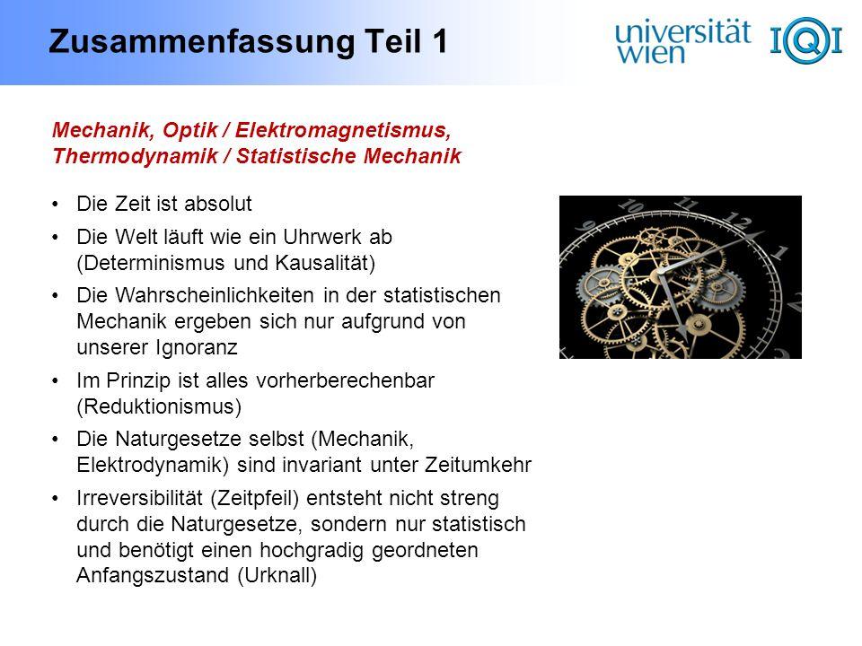 Zusammenfassung Teil 1 Mechanik, Optik / Elektromagnetismus, Thermodynamik / Statistische Mechanik.