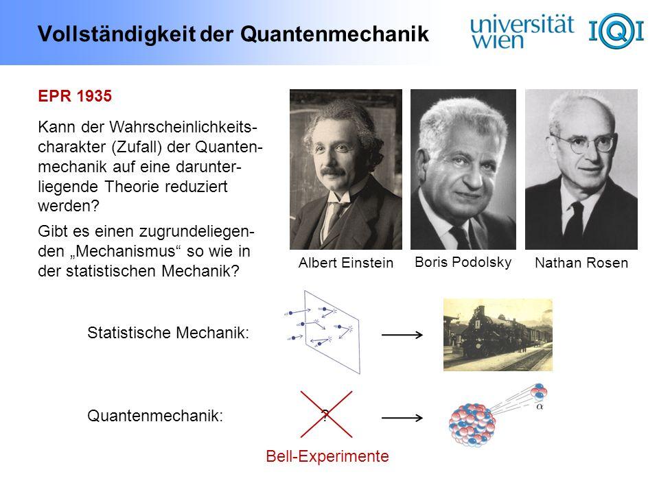 Vollständigkeit der Quantenmechanik
