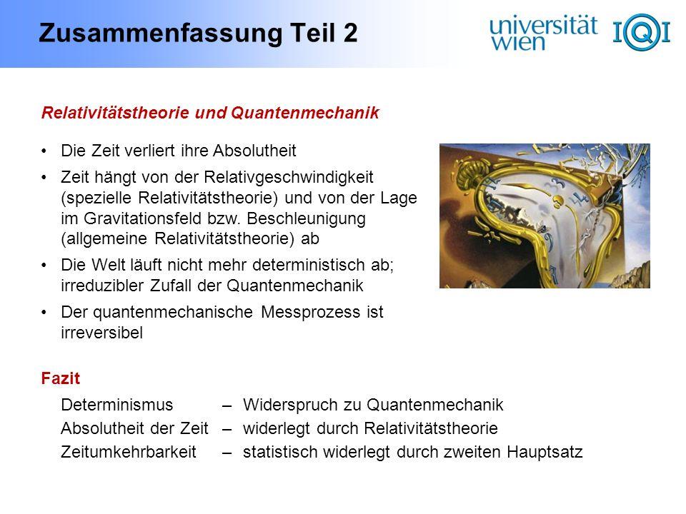 Zusammenfassung Teil 2 Relativitätstheorie und Quantenmechanik