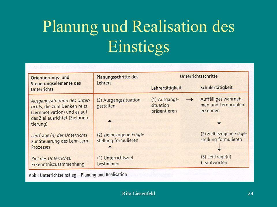 Planung und Realisation des Einstiegs