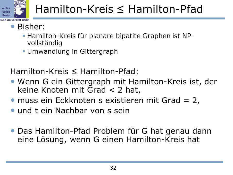 Hamilton-Kreis ≤ Hamilton-Pfad
