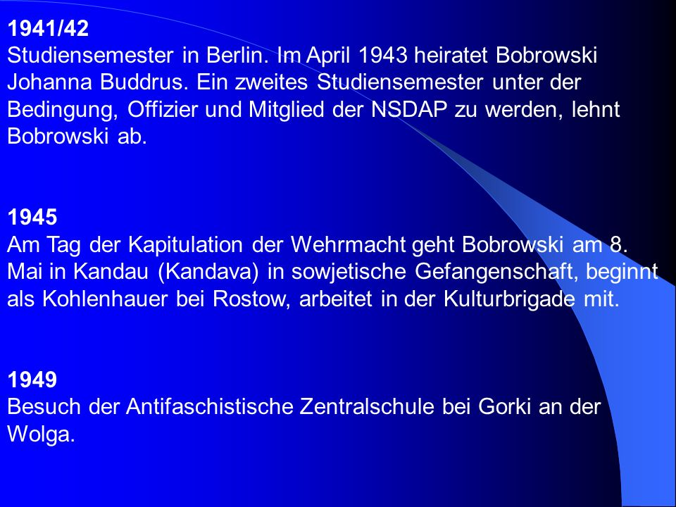 1941/42. Studiensemester in Berlin