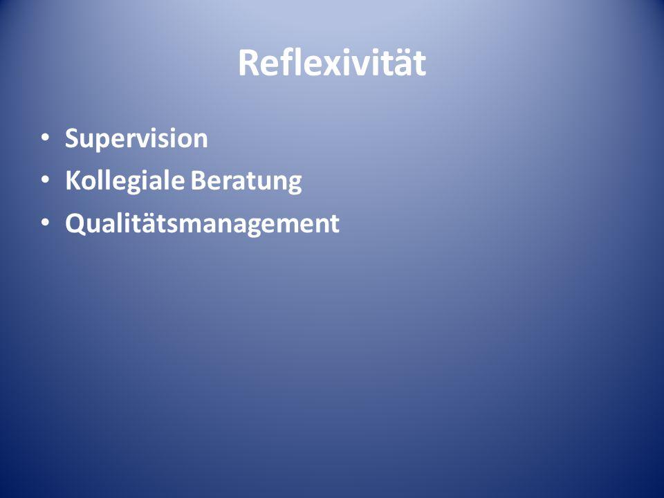 Reflexivität Supervision Kollegiale Beratung Qualitätsmanagement