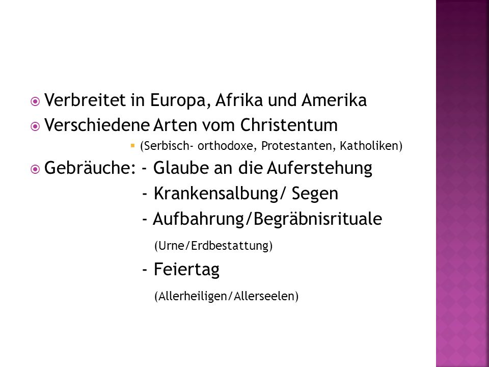 Verbreitet in Europa, Afrika und Amerika
