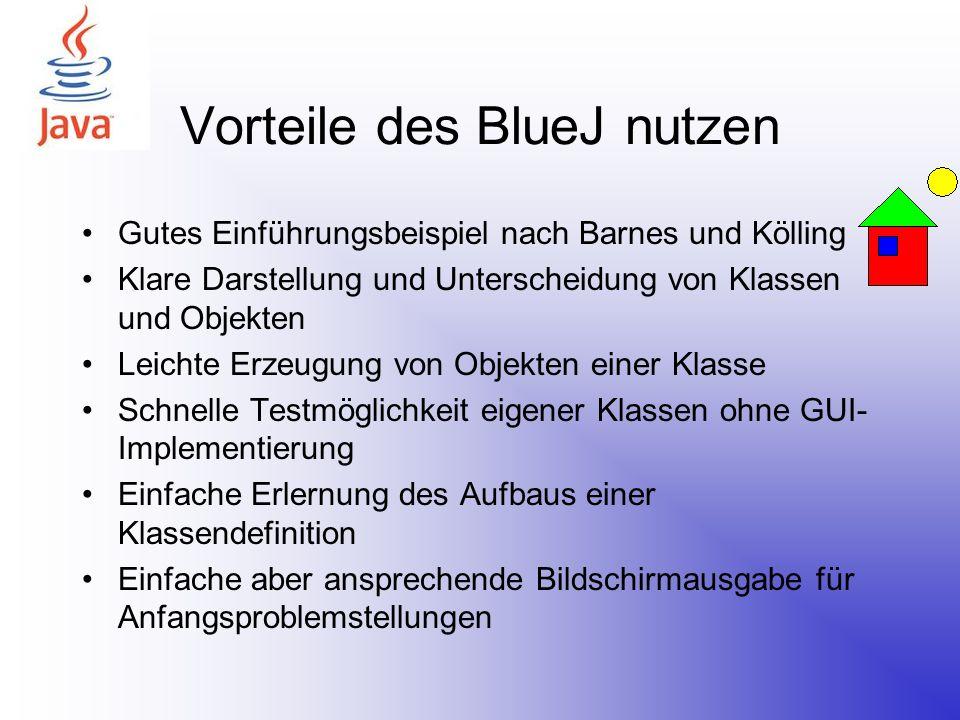Vorteile des BlueJ nutzen