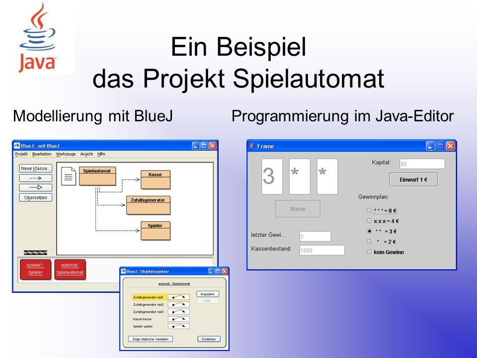 Ein Beispiel das Projekt Spielautomat