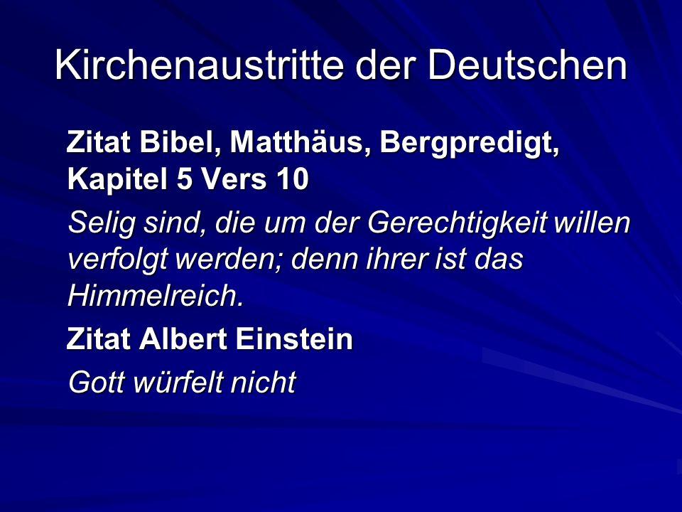 Kirchenaustritte der Deutschen