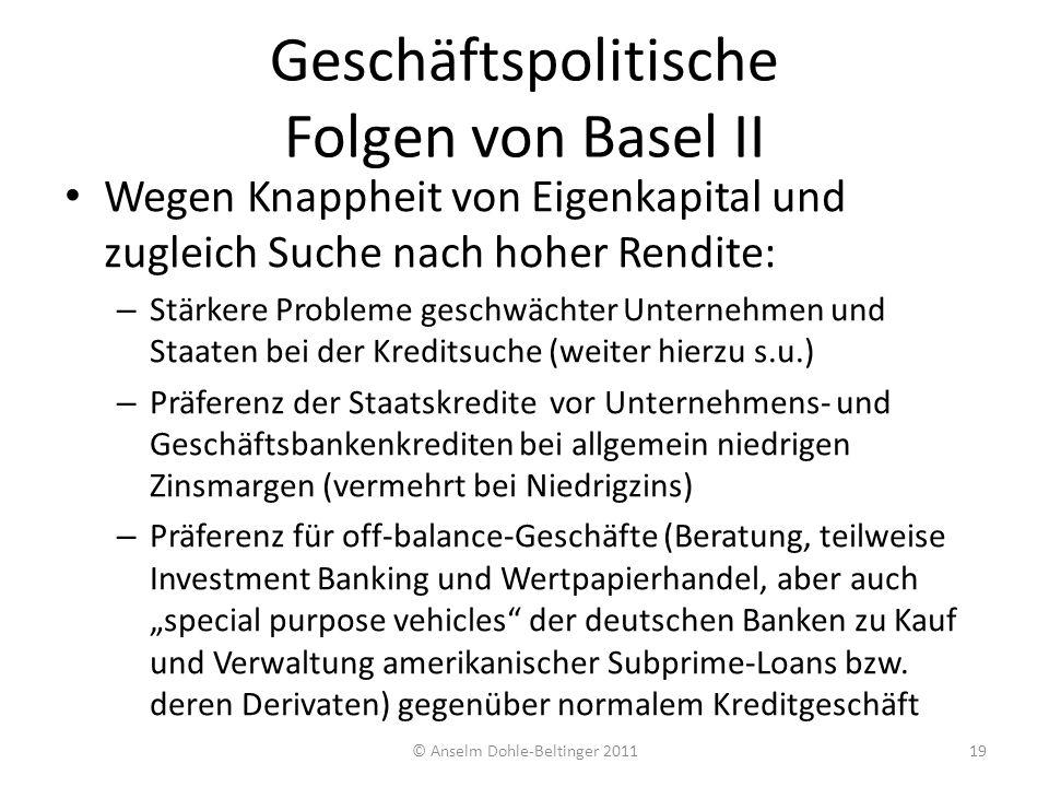 Geschäftspolitische Folgen von Basel II