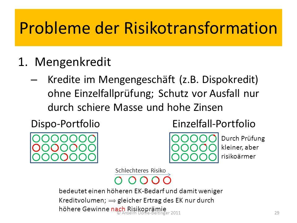 Probleme der Risikotransformation