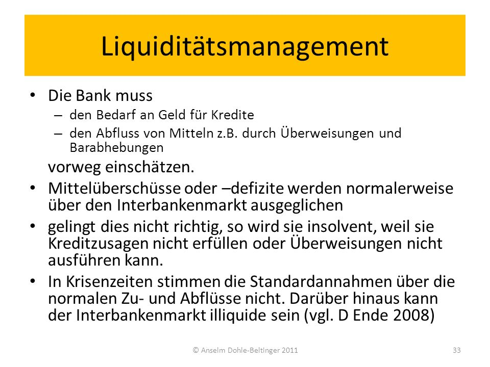 Liquiditätsmanagement