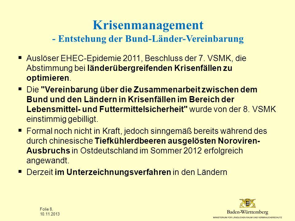 Krisenmanagement - Entstehung der Bund-Länder-Vereinbarung