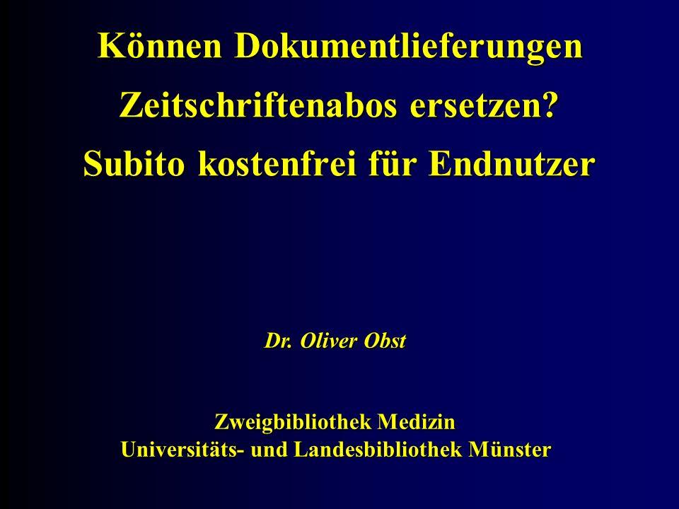 Zweigbibliothek Medizin Universitäts- und Landesbibliothek Münster