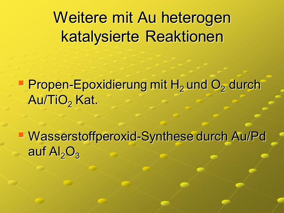 Weitere mit Au heterogen katalysierte Reaktionen