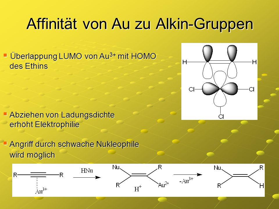 Affinität von Au zu Alkin-Gruppen