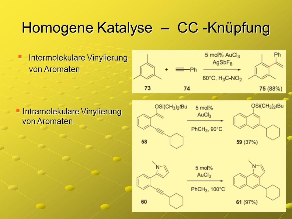 Homogene Katalyse – CC -Knüpfung